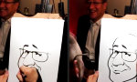 Lustiges Video : High-Speed Karikaturist