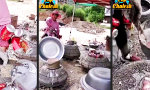 Lustiges Video : Altdosen-Recycling in China