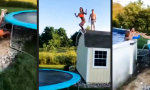 Movie : Vom Dach aufs Trampolin in den Pool